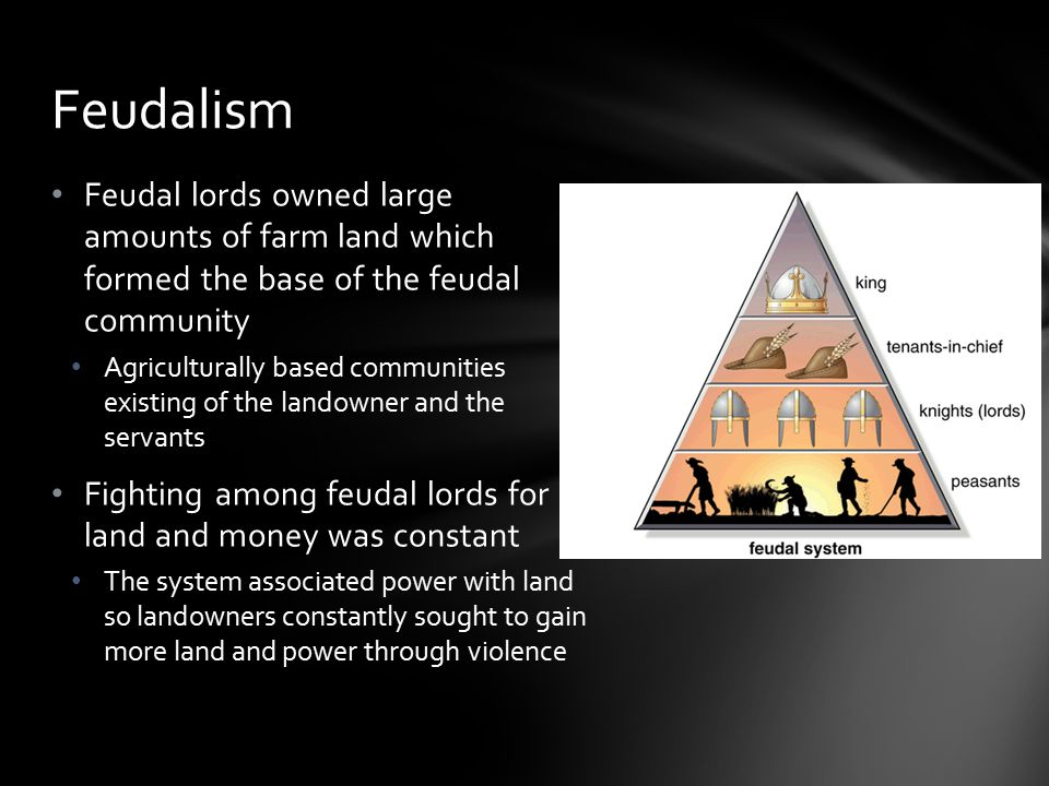 The Feudal system granted political and military power to a wealthy landowner Landowners comprised the nobility during this time (dukes, counts, etc.)