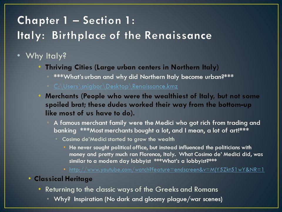Why Italy.