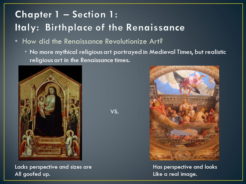 How did the Renaissance Revolutionize Art.