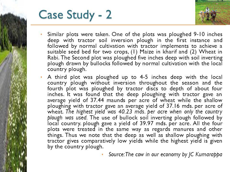 Case Study - 2 Similar plots were taken.
