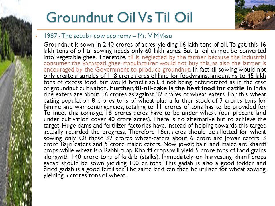 Groundnut Oil Vs Til Oil 1987 - The secular cow economy – Mr.