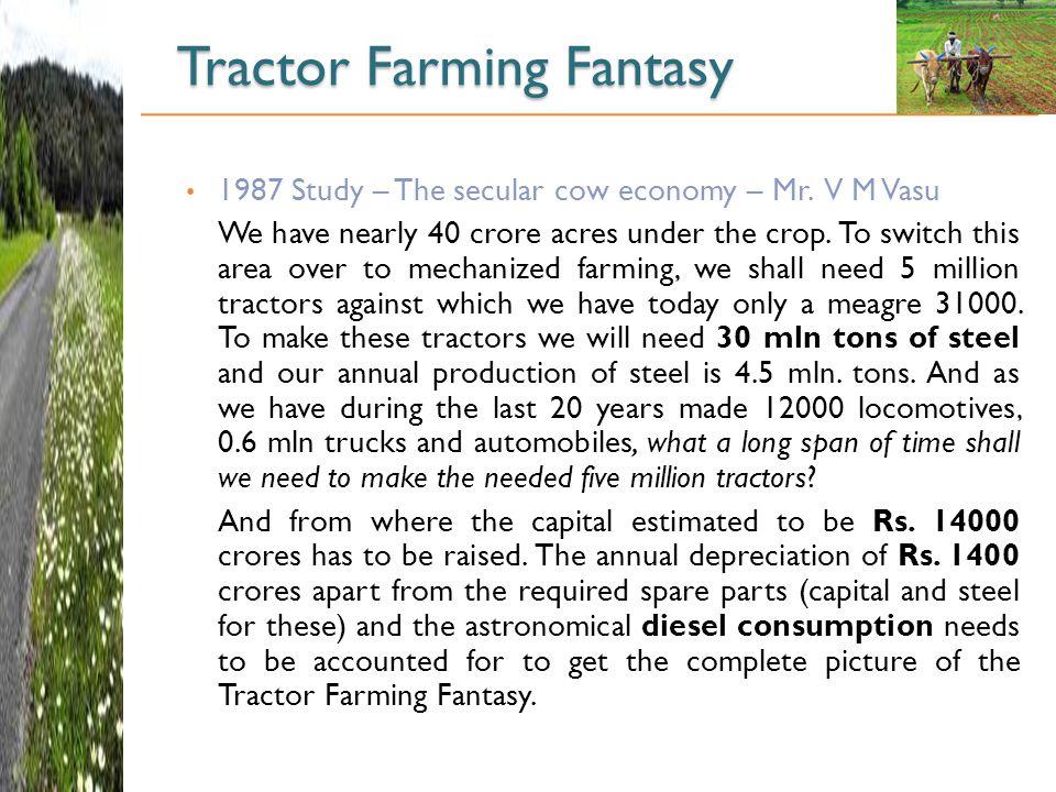 Tractor Farming Fantasy 1987 Study – The secular cow economy – Mr.