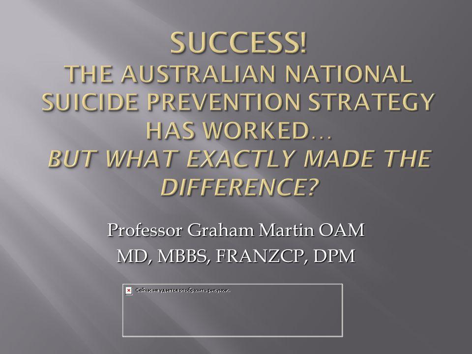 Professor Graham Martin OAM MD, MBBS, FRANZCP, DPM Professor Graham Martin OAM MD, MBBS, FRANZCP, DPM