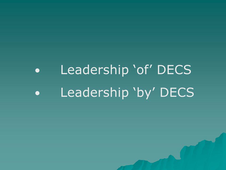 Leadership 'by' DECS