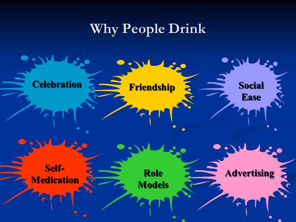 Why People Drink SocialEase RoleModelsAdvertising Friendship Celebration Self-Medication