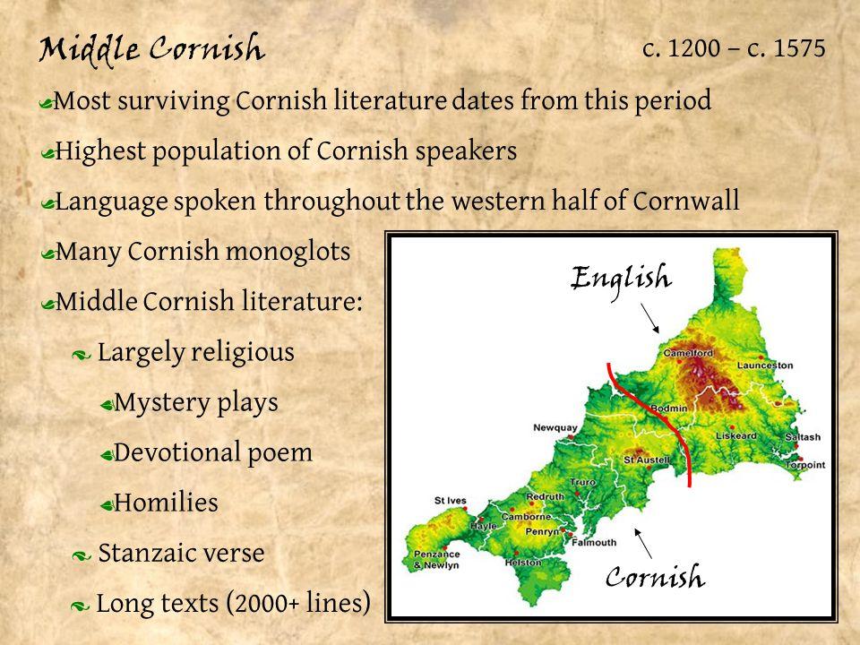 Middle Cornish c. 1200 – c.