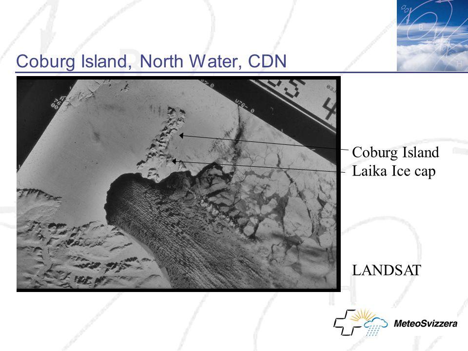 Coburg Island, North Water, CDN Coburg Island Laika Ice cap LANDSAT