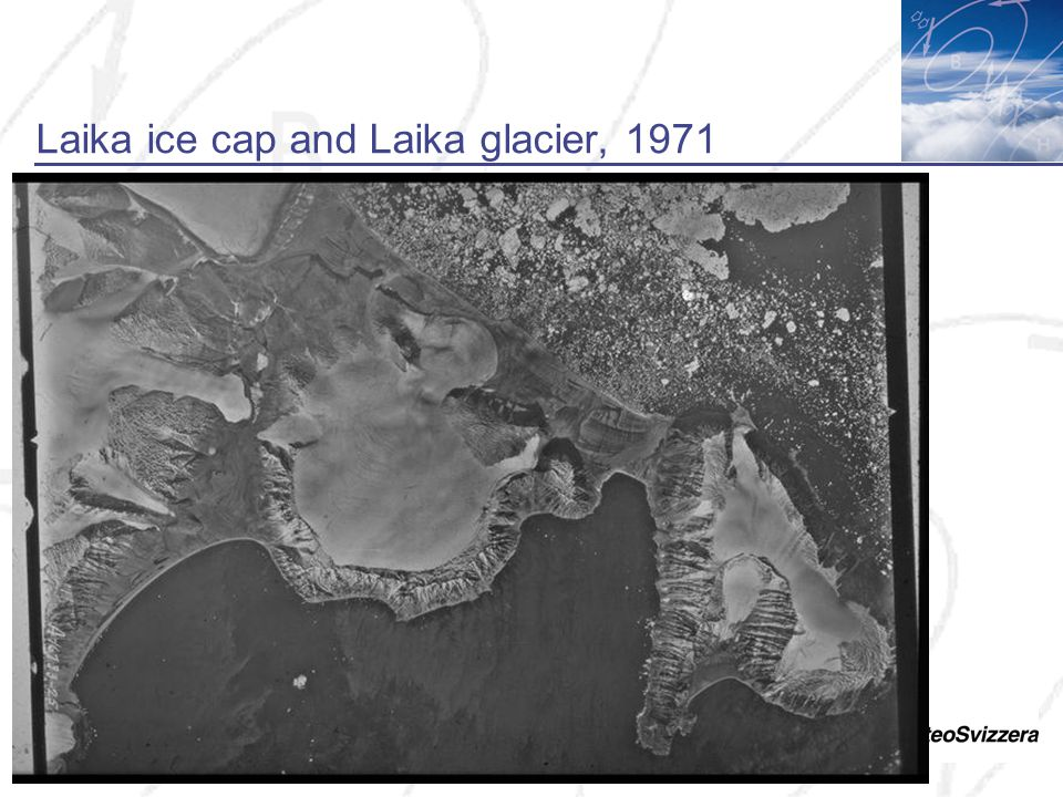 Laika ice cap and Laika glacier, 1971
