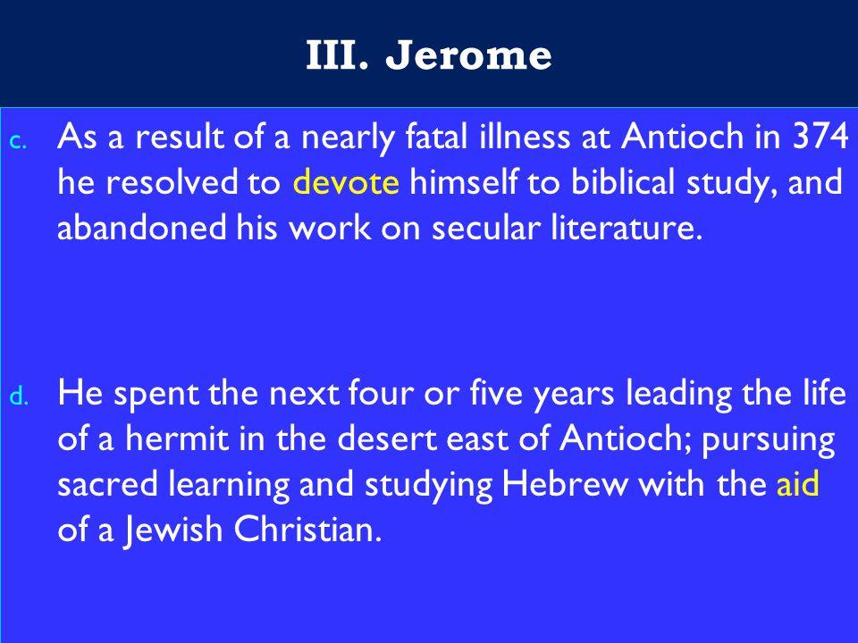 13 III. Jerome c.