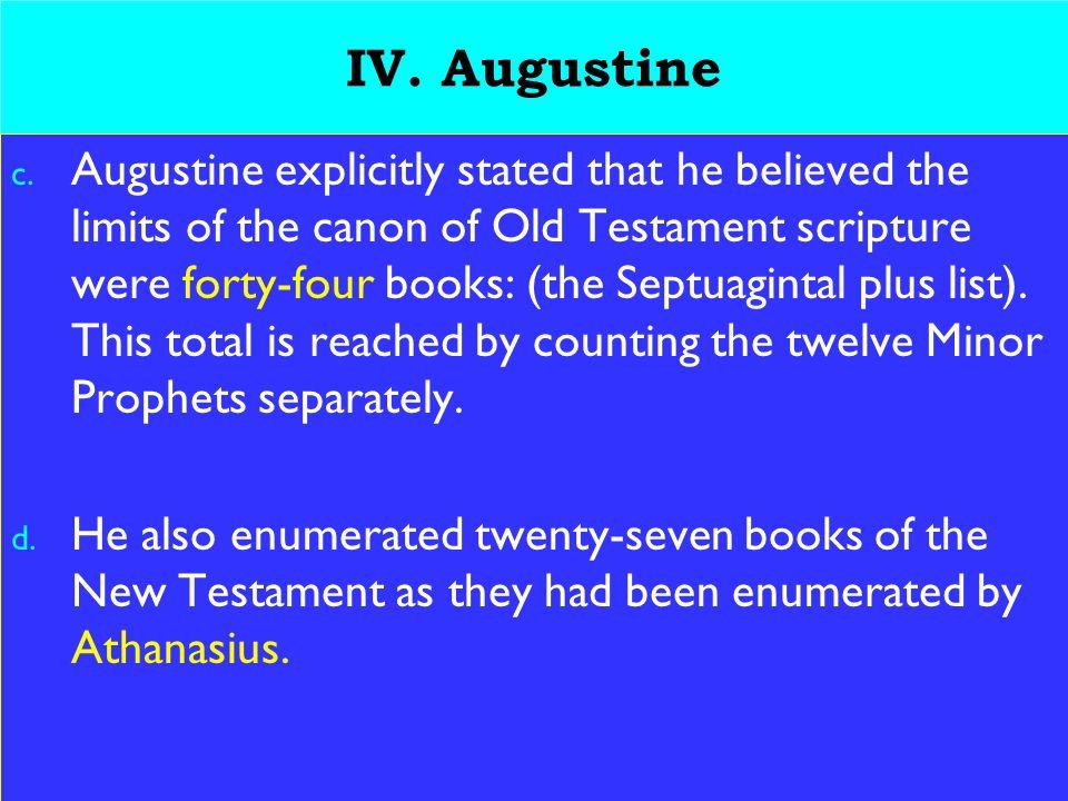 21 IV. Augustine c.