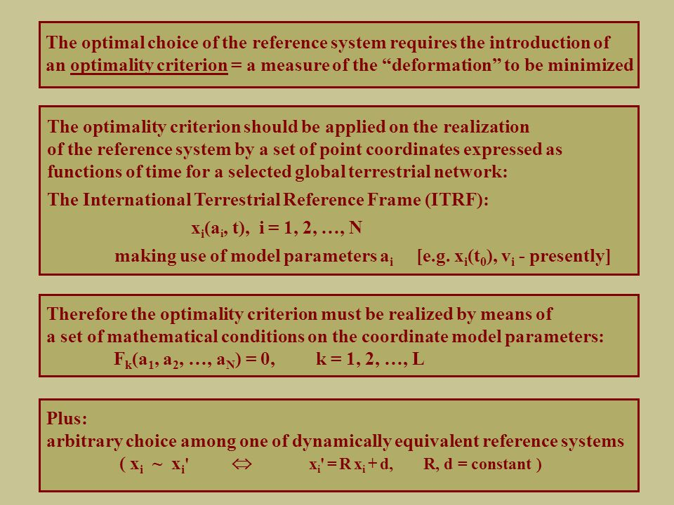 How to implement the optimality conditions.