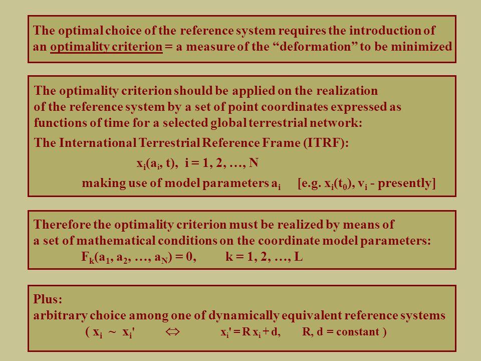 The discrete Tisserand conditions (b) Constant (discrete) barycenter: