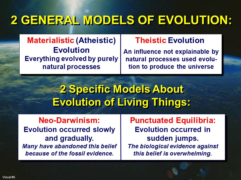 HOW TO SET UP MODELS Use the basic ideas of Initial Disorganization versus Initial Complexity to make predictions in as many areas as possible: Astronomy, Physics, Chemistry, Biochemistry, Biology, Paleontology, Geology, etc.
