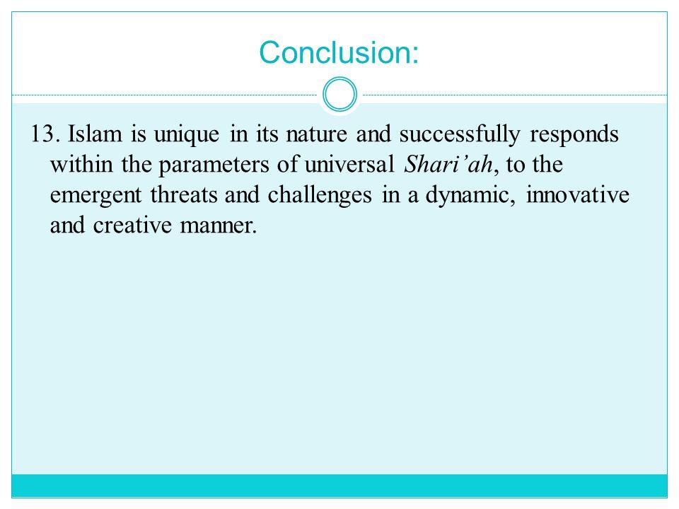 Conclusion: 13.