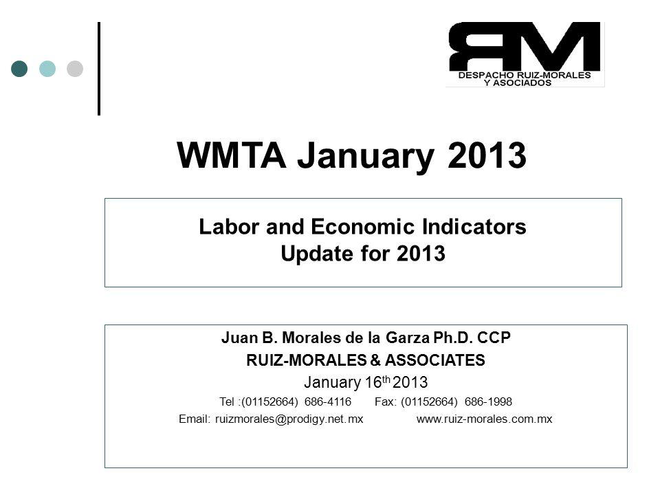 Copyright(c)2013 Juan B. Morales Ph.D. CCP 1 WMTA January 2013 Juan B.