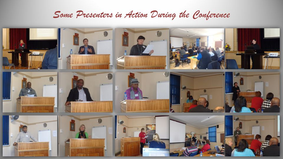 Some Presenters in Action During the Conference