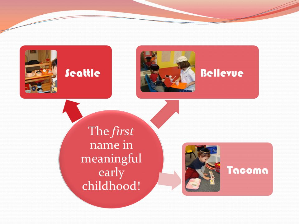 The first name in meaningful early childhood! Seattle Bellevue Tacoma