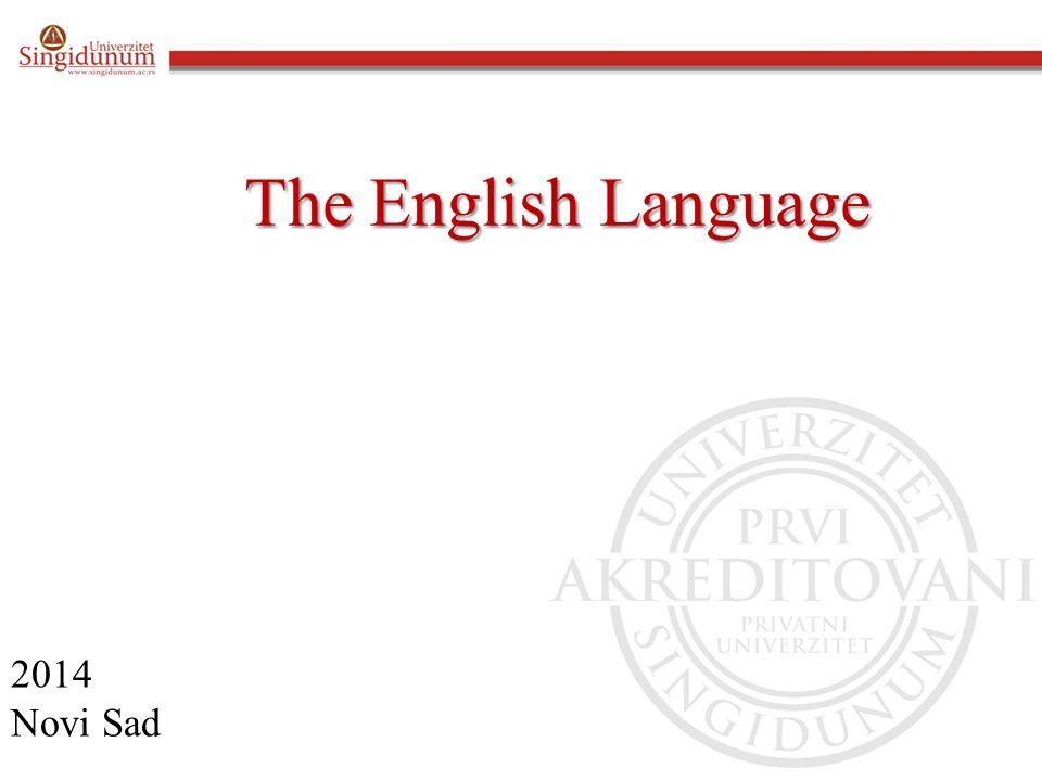 The English Language 2014 Novi Sad