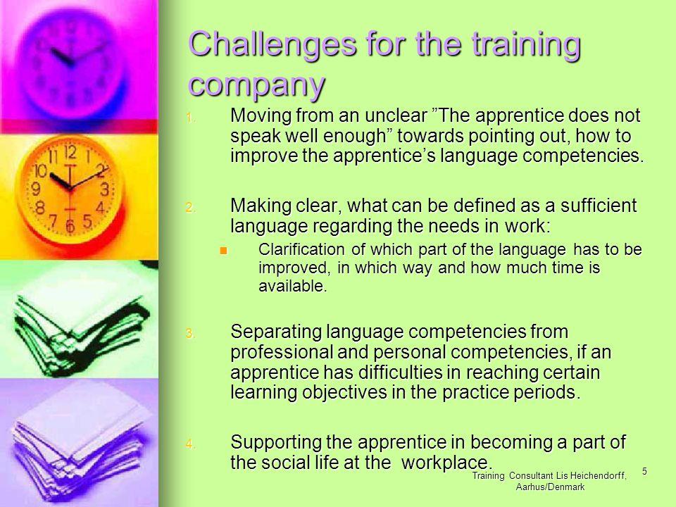 Training Consultant Lis Heichendorff, Aarhus/Denmark 5 1.