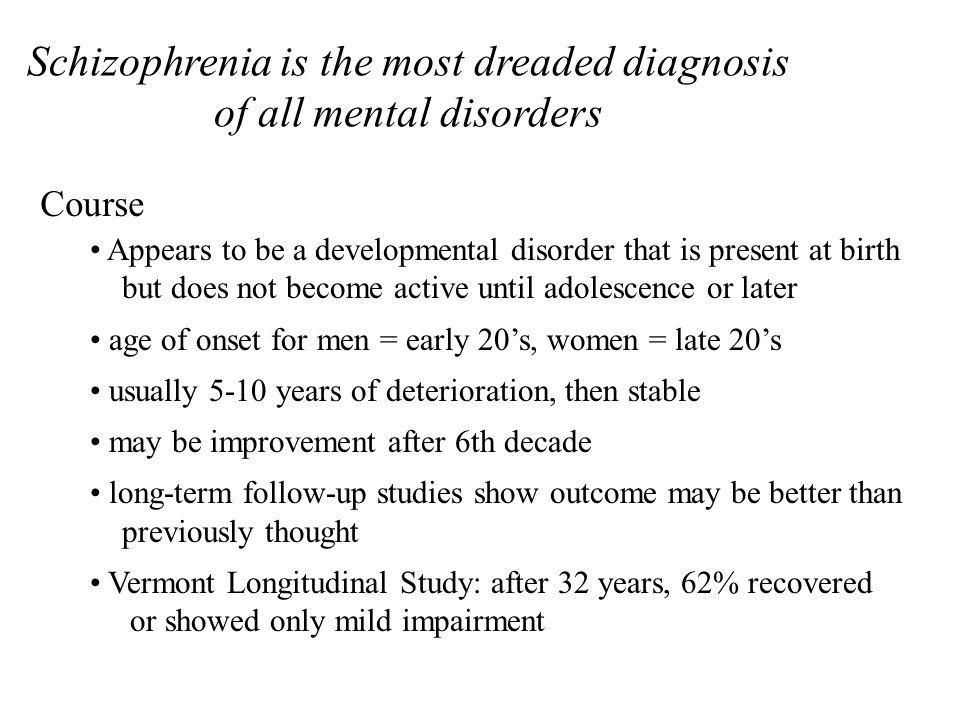 Subtypes of Schizophrenia paranoid type disorganized type catatonic type undifferentiated type