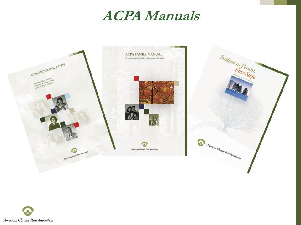 ACPA Manuals