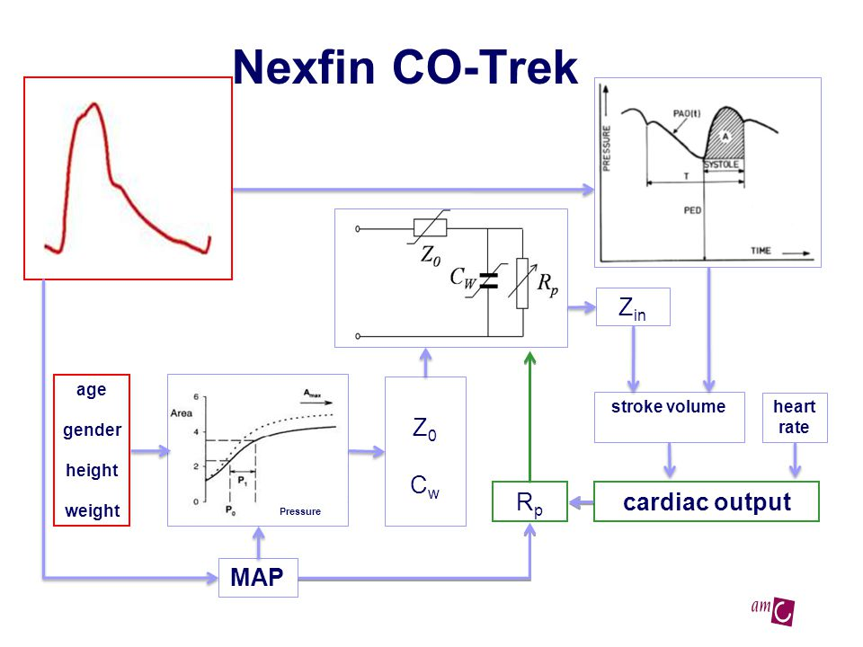 Nexfin CO-Trek age gender height weight Z0CwZ0Cw stroke volume cardiac output heart rate RpRp Pressure MAP Z in