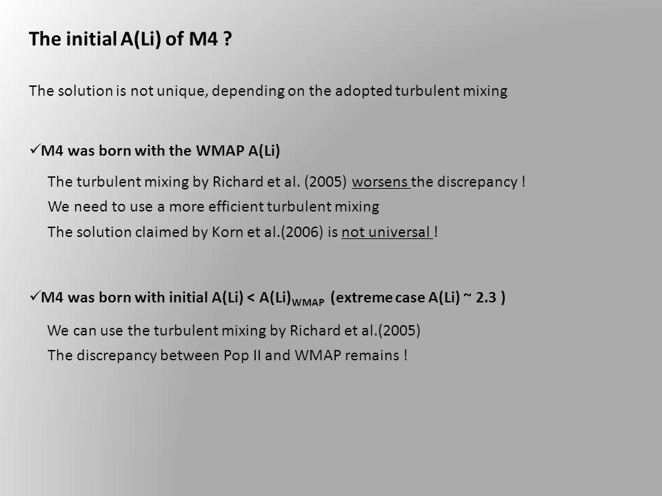 The initial A(Li) of M4 .