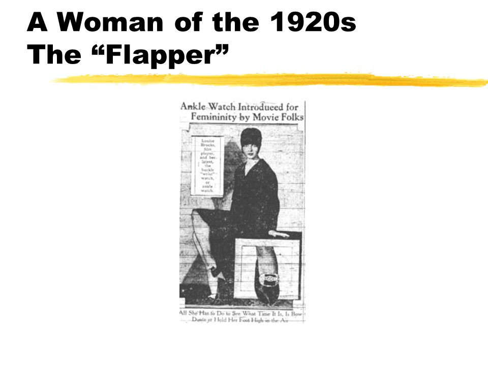 A Woman of the 1920s The Flapper