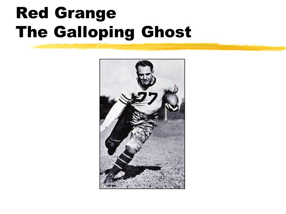 Red Grange The Galloping Ghost