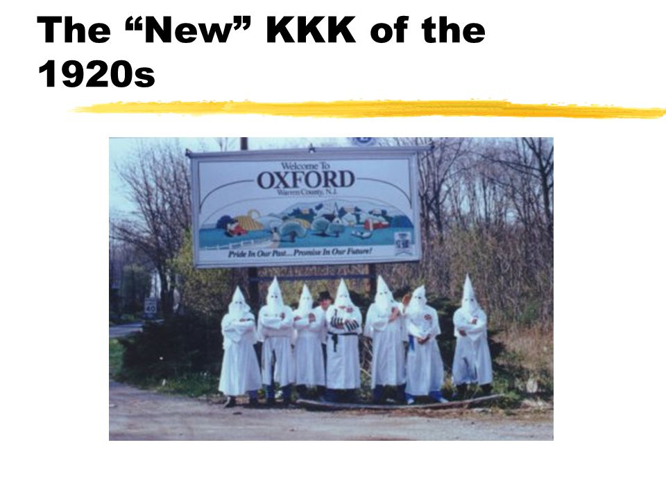 The New KKK of the 1920s
