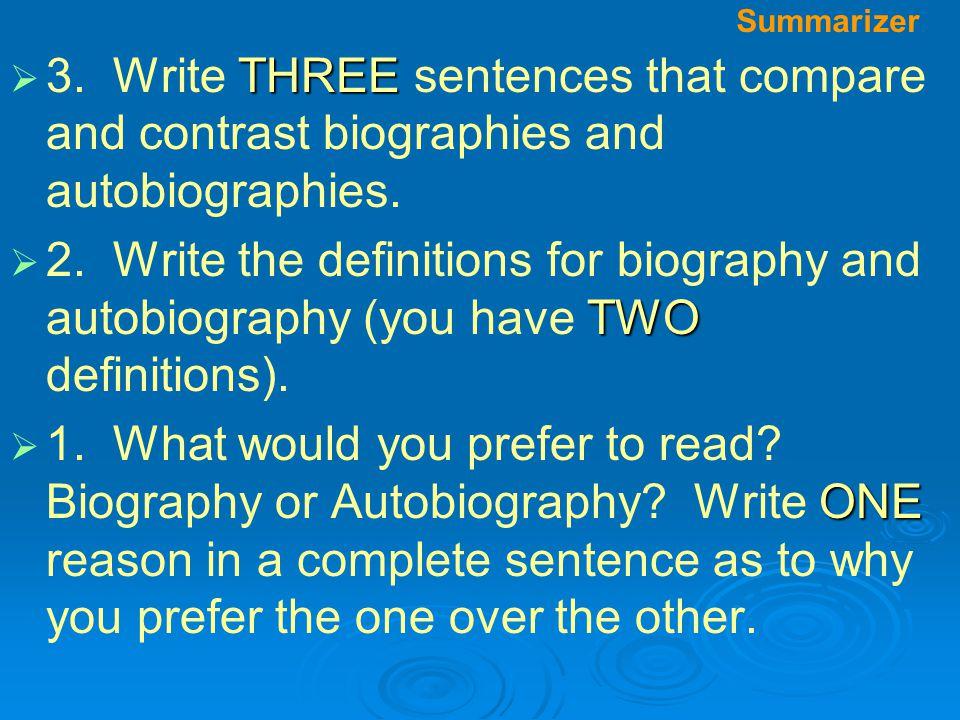 Summarizer  THREE  3.