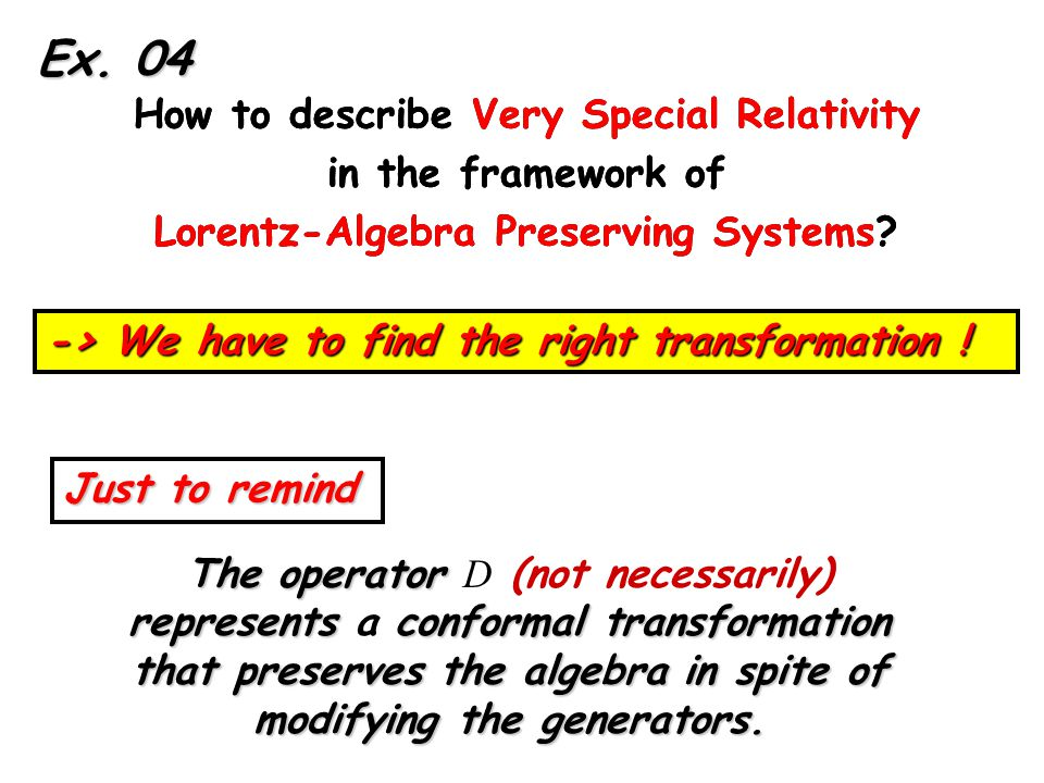 How to describe Very Special Relativity in the framework of Lorentz-Algebra Preserving Systems.