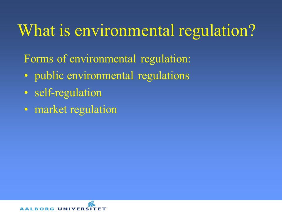 What is environmental regulation.
