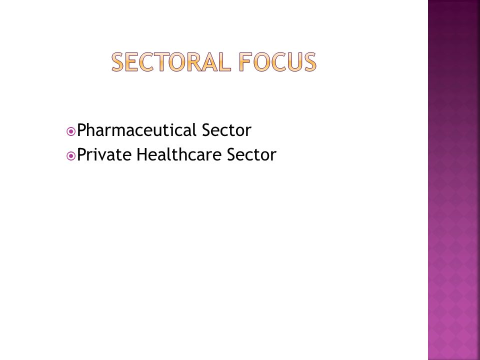  Pharmaceutical Sector  Private Healthcare Sector