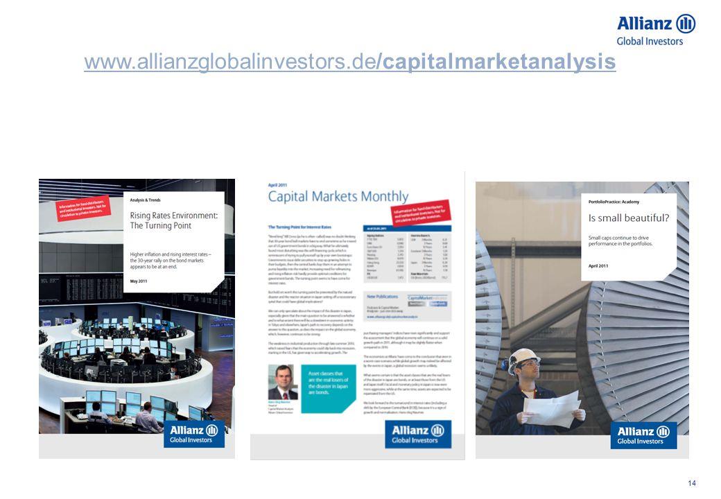 14 www.allianzglobalinvestors.de/capitalmarketanalysis
