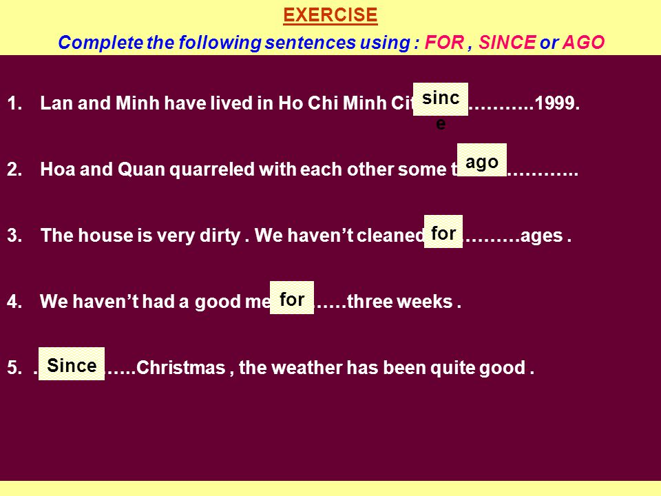 2. The simple past tense. Form : (were/was) ( + ) : S + V + ( O ).
