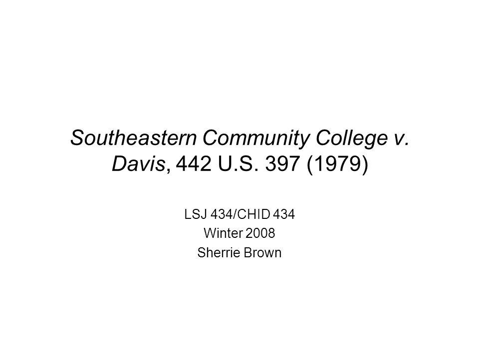 Southeastern Community College v. Davis, 442 U.S.