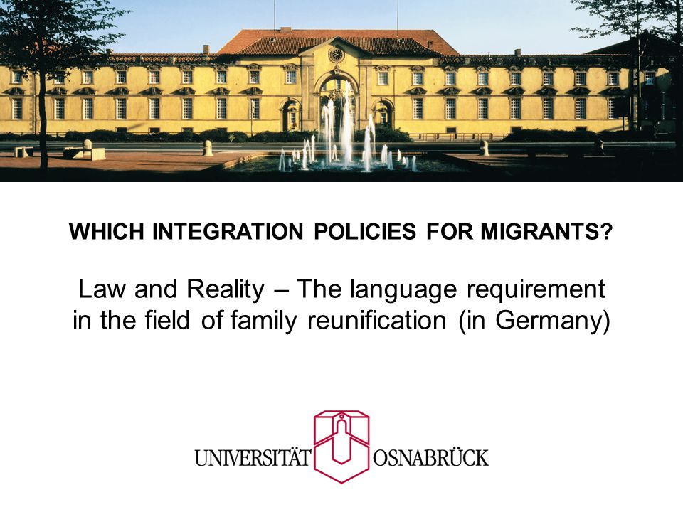 WHICH INTEGRATION POLICIES FOR MIGRANTS.