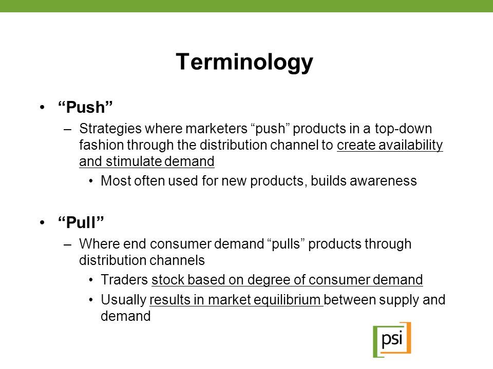Push vs.Pull: Why Should We Care.
