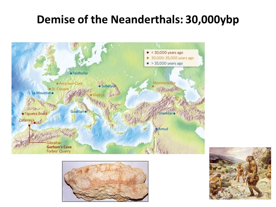 Demise of the Neanderthals: 30,000ybp