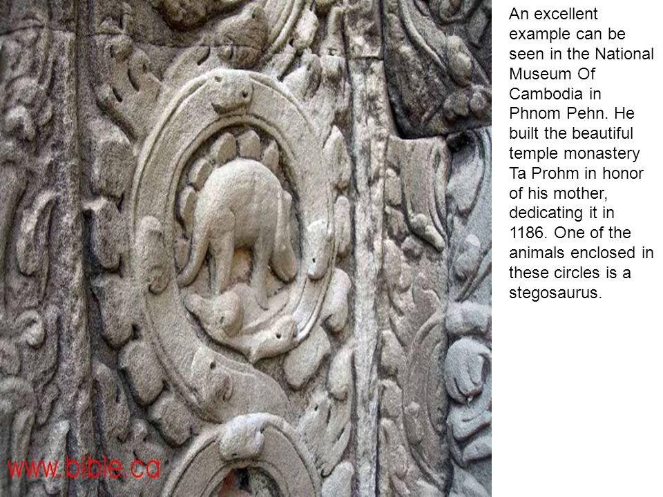 An excellent example can be seen in the National Museum Of Cambodia in Phnom Pehn.