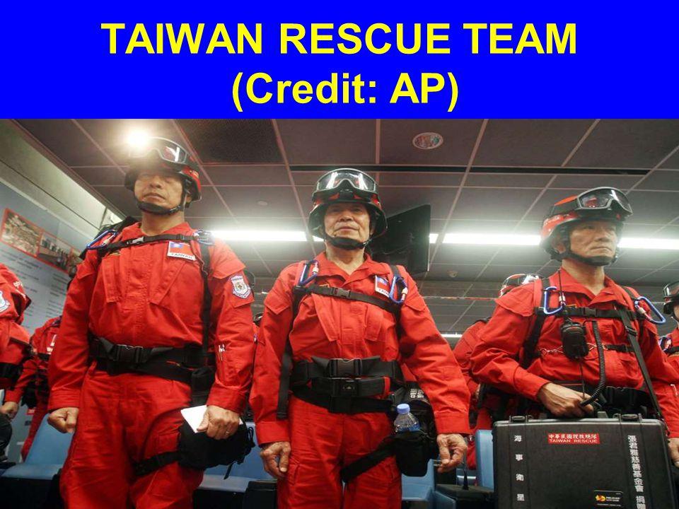 TAIWAN RESCUE TEAM (Credit: AP)