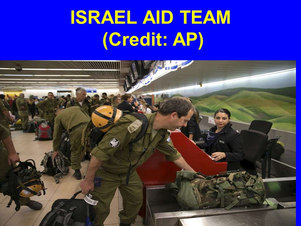 ISRAEL AID TEAM (Credit: AP)