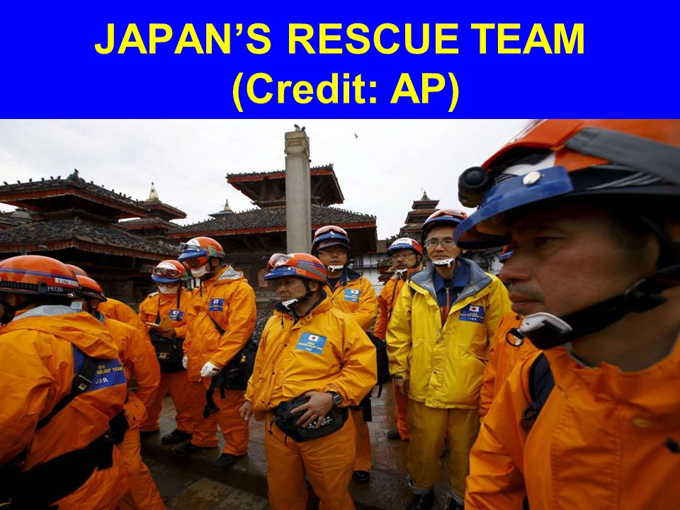 JAPAN'S RESCUE TEAM (Credit: AP)