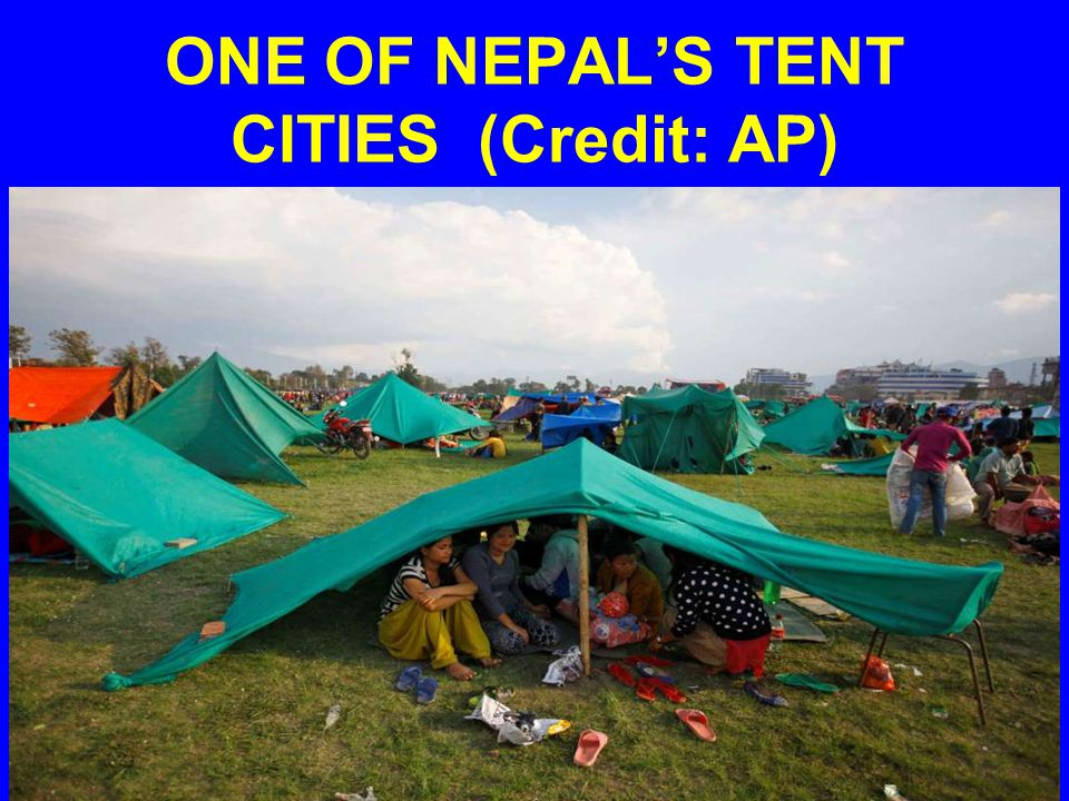 ONE OF NEPAL'S TENT CITIES (Credit: AP)