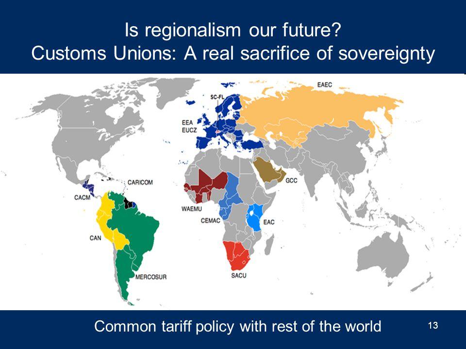 Regionalism before globalism 12