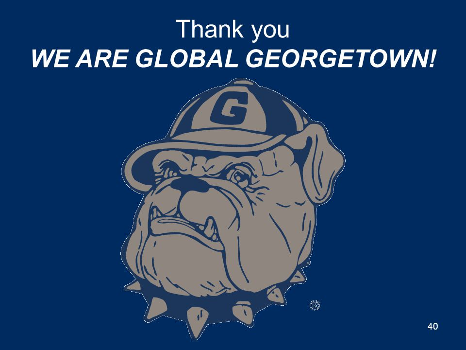 YOU ARE GEORGETOWN! Privilege Thank you 39