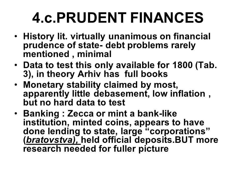 4.c.PRUDENT FINANCES History lit.