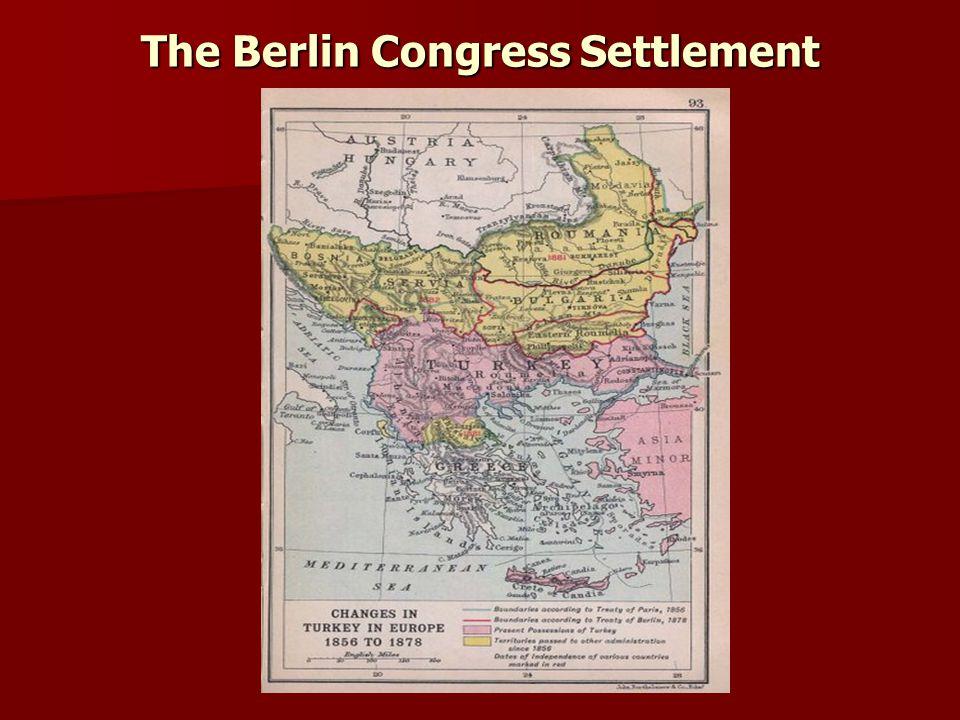 The Berlin Congress Settlement
