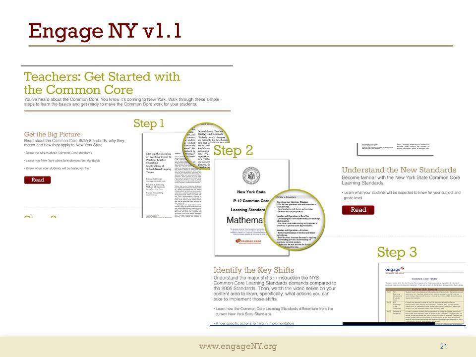 www.engageNY.org Engage NY v1.1 21